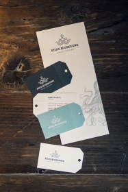 Branded menu and cards